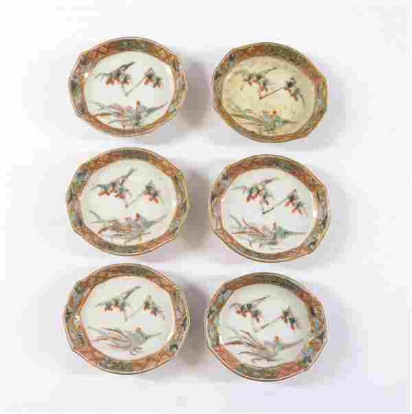(6) DECORATED PORCELAIN DISHES