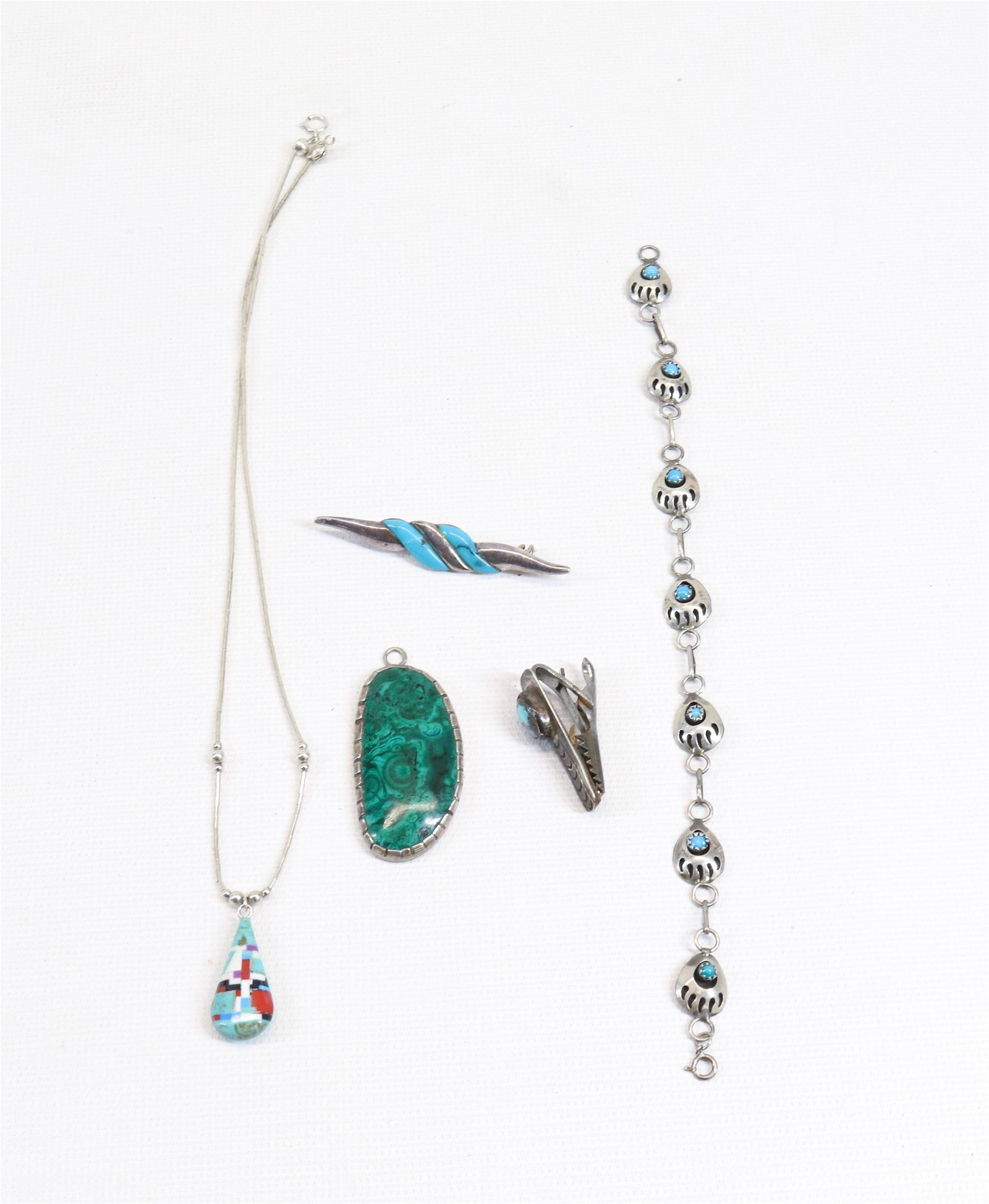 NATIVE AMERICAN STERLING SILVER GROUP