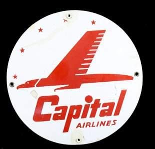 PORCELAIN CAPITAL AIRLINES SIGN