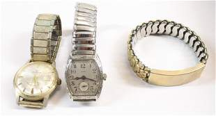 PAIR OF VINTAGE WATCHES AND BRACELET