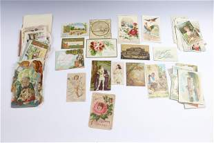 LARGE LOT OF VICTORIAN ADVERTISING TRADE CARDS