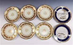 GROUP LOT OF (8) LIMOGES PLATES