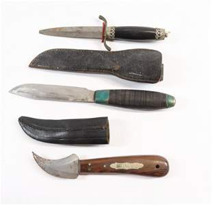 GROUP LOT OF THREE KNIVES