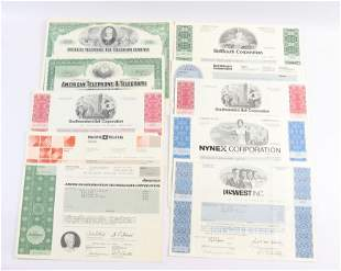 GROUP LOT OF STOCK CERTIFICATES