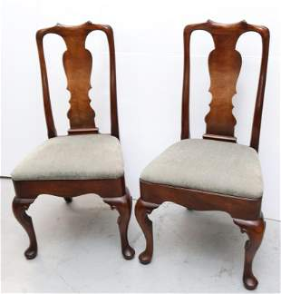 PAIR OF QUEEN ANNE STYLE SIDE CHAIRS