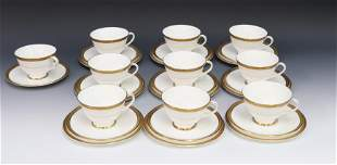 GROUP LOT OF ROYAL DOULTON CUP/SAUCERS/PLATES
