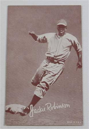 JACKIE ROBINSON BASEBALL EXHIBIT CARD