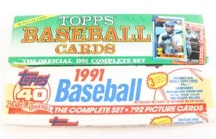 (2) TOPPS BASEBALL CARDS COMPLETE SETS
