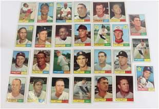 1961 TOPPS BASEBALL CARD LOT