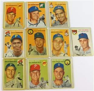 1954 TOPPS BASEBALL CARD LOT