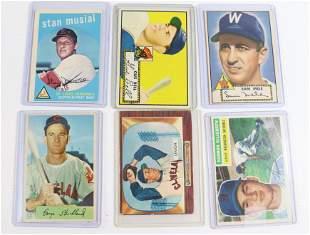 EARLY 1950'S BASEBALL CARD LOT