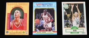 (3) BASKETBALL CARDS IVERSON, JORDAN, BIRD