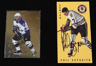 STEVE DUCHESNE AND PHIL ESPOSITO HOCKEY CARDS