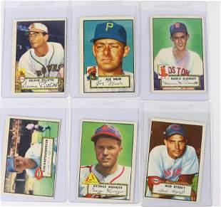 GROUP LOT OF 1952 TOPPS BASEBALL CARDS