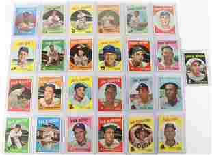 GROUP LOT OF 1959 TOPPS BASEBALL CARDS