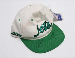 NEW YORK JETS AUTOGRAPHED HAT