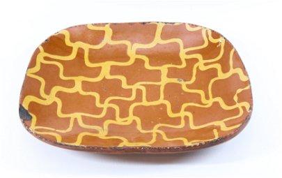 19TH CENTURY REDWARE LOAF PAN
