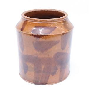 DECORATED REDWARE JAR