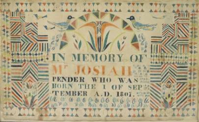 19TH C. MEMORIAL FRAKTUR