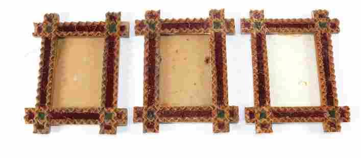 (3) MATCHING TRAMP ART FRAMES
