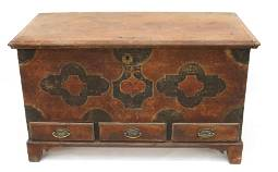 18TH C. PETER ROHN PAINT DECORATED BLANKET CHEST