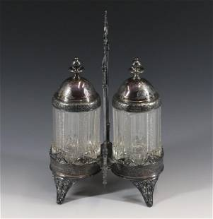 19TH CENTURY REED AND BARTON PICKLE CASTER