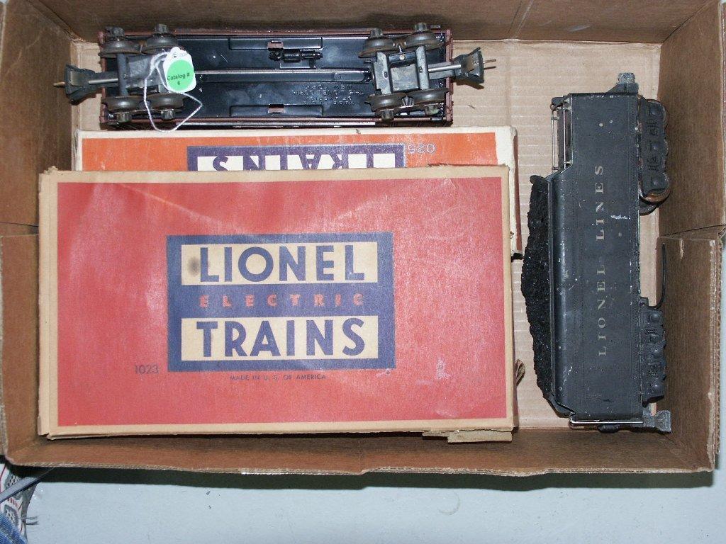 6:  BOX LOT OF TRAIN ITEMS 2426 DI CAST TENDER, 6110, 6