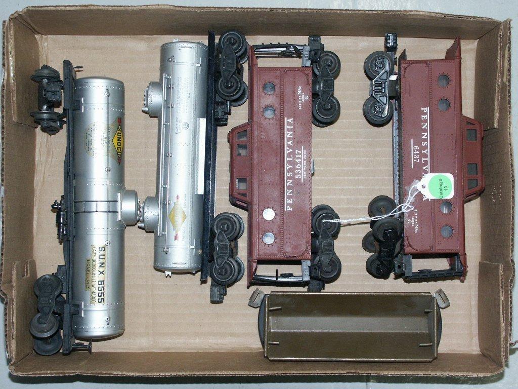13:  BOX LOT OF TRAIN ITEMS 655, 6465, 536417, 6437, AN