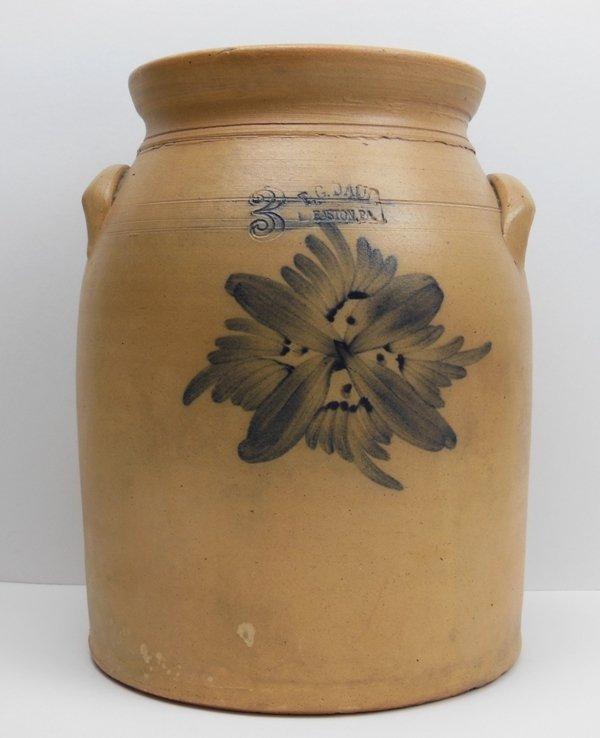 9: PA Stoneware Preserve Jar T.G. Daub Easton, PA