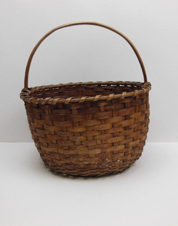 14: 19th Century Oak Splint Basket