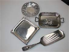 220 Silver Plate Group 4 Pieces