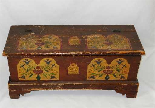 - 261: Pennsylvania Dutch Painted Blanket Chest