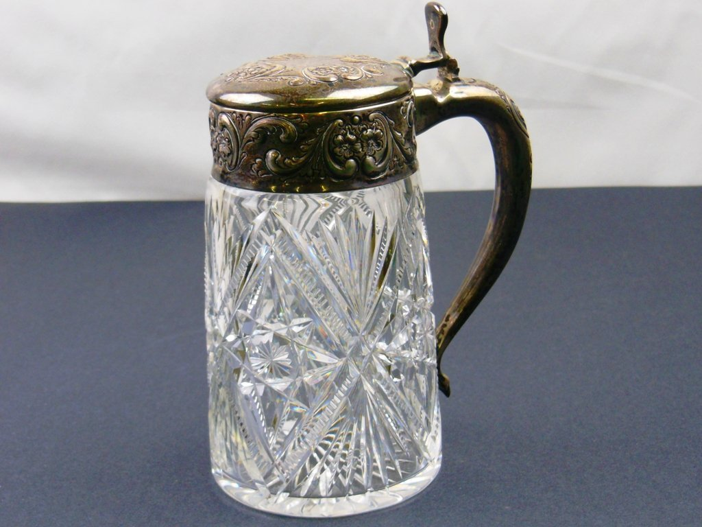 Brilliant Cut Sterling banded stein
