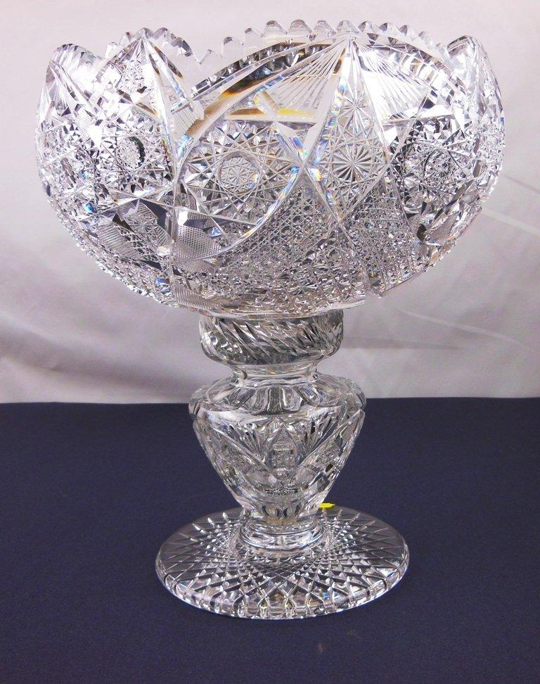 Brilliant Cut Glass Punch Bowl