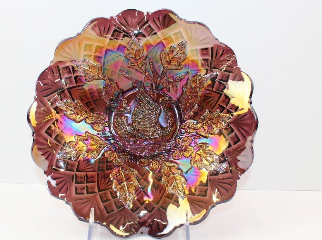 Nesting Swan Carnival Glass