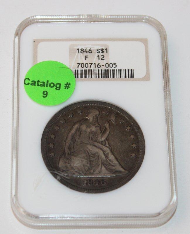 1846S  SEATED LIBERTY DOLLAR