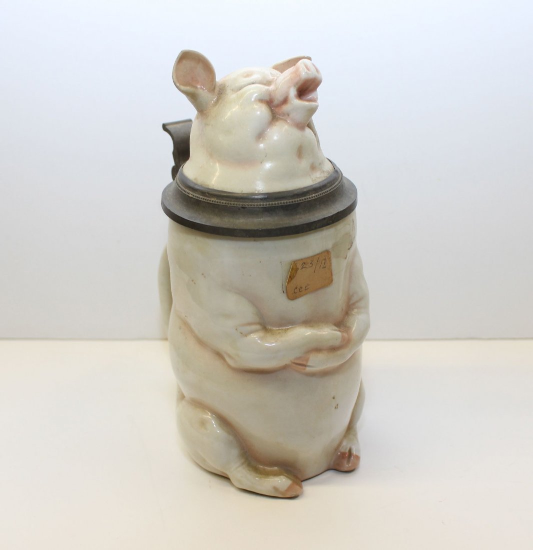 SINGING PIG PORCELAIN STEIN