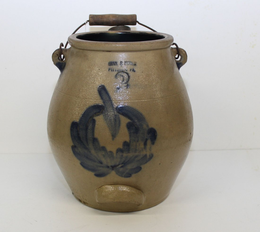 BLUE DECORATED BATTER JUG