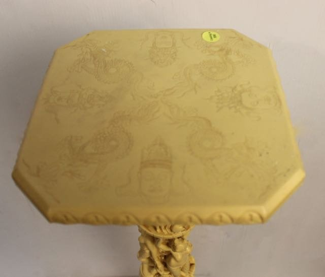 CARVED PLASTIC PLANT STAND - 2