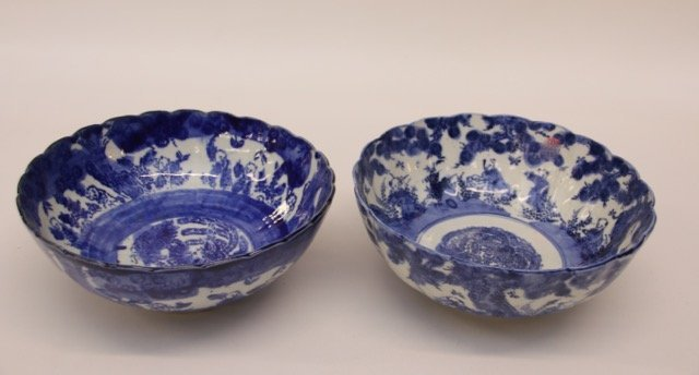 PR. BLUE AND WHITE BOWLS