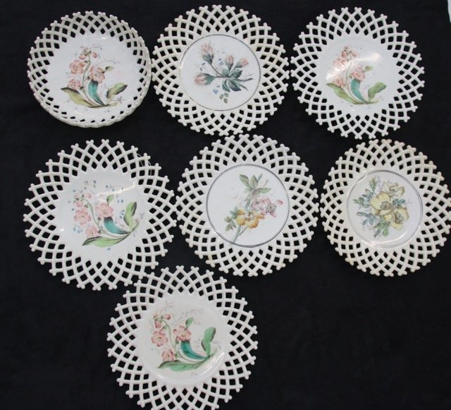 MILK GLASS LOT