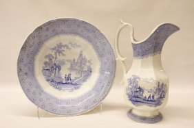 Transferware Pitcher And Bowl Set