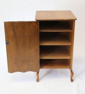 Oak Record Cabinet
