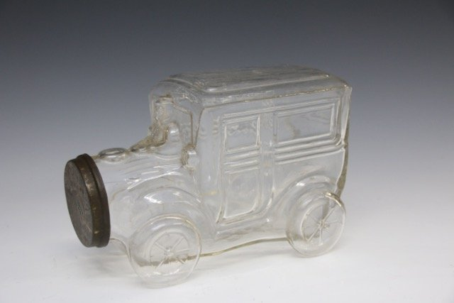 LG. GLASS CANDY CONTAINER
