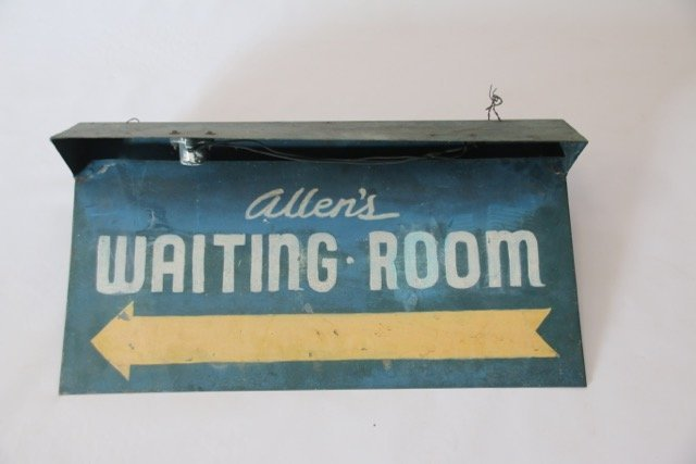 WAITING ROOM SIGN