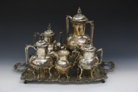 Victorian Silver Plated Tea Service