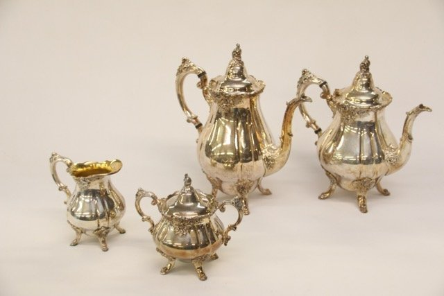 "WALLACE ""BAROQUE"" TEA SERVICE"