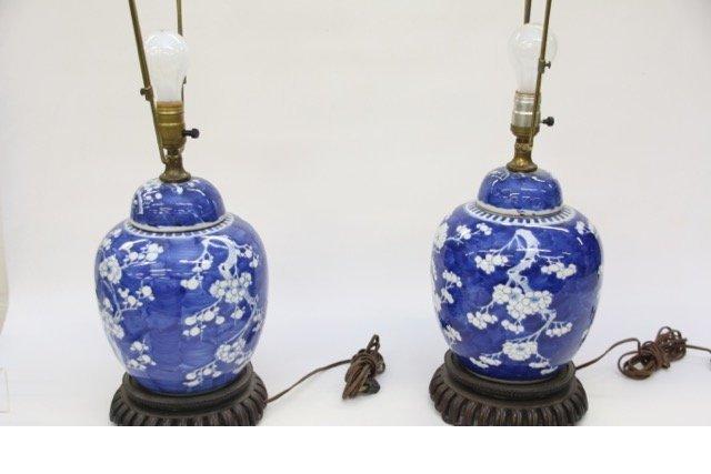 PR. GINGER JAR STYLE LAMPS