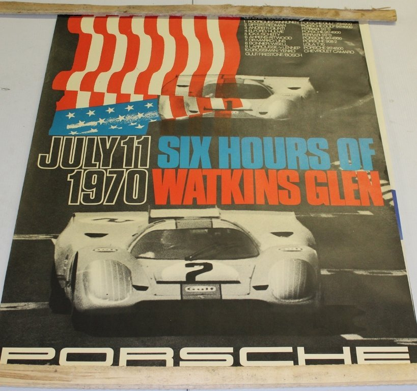 GROUP OF 1970'S PORSCHE POSTERS