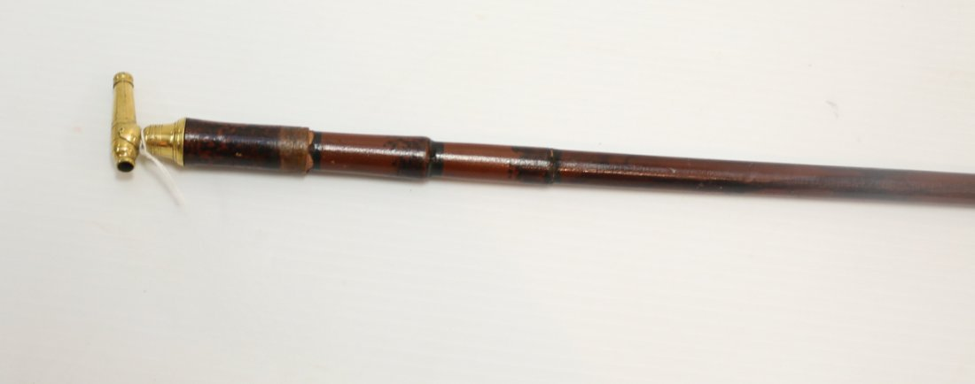 WALKING STICK WITH CANNON HANDLE